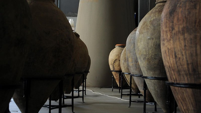The interior of Zorah's facility in Rind, Armenia, lined with karases found in remote villages.