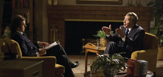 David Frost interviews Richard Nixon in Ron Howards Frost/Nixon