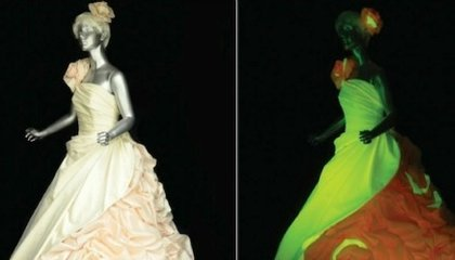 Plan a Psychedelic Wedding with Glowing Dresses Made from Material from Engineered Silkworm