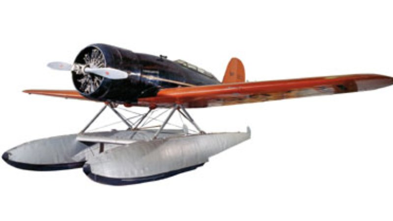 The Lindberghs piloted this tandem seat, single-engine aircraft, outfitted to Charles' specifications.