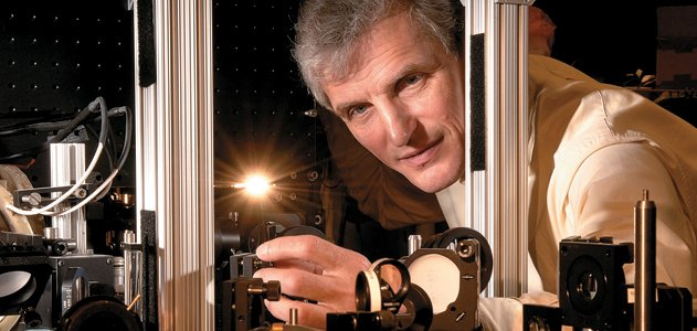 Bright idea: Wolfgang Ketterle (in his M.I.T lab) hopes to discover new forms of matter by studying ultracold atoms.