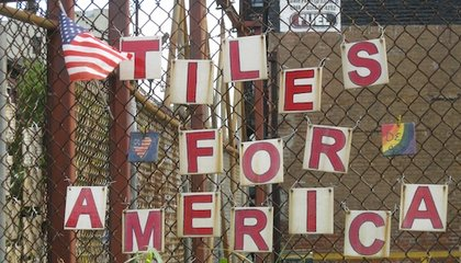 """Handcrafted """"Tiles for America"""" Project Remembers 9/ll"""