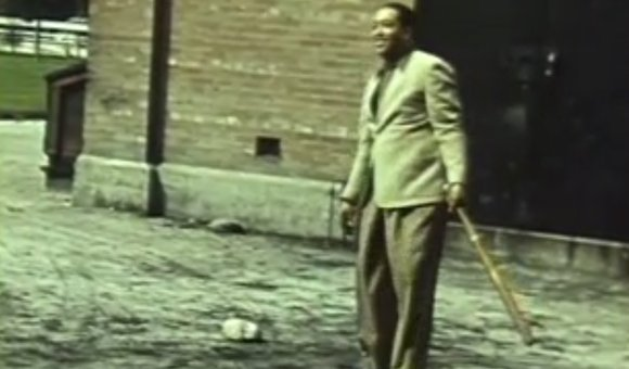 Preview thumbnail for video'Rare Footage of Duke Ellington Playing Baseball